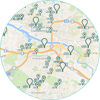 Search practices via interactice google map