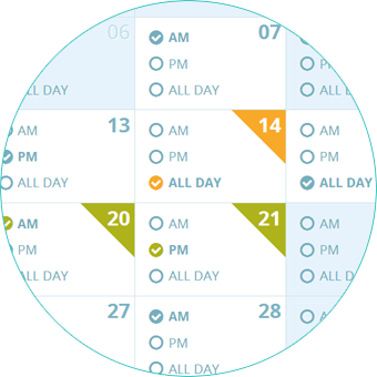 Set your availabilty